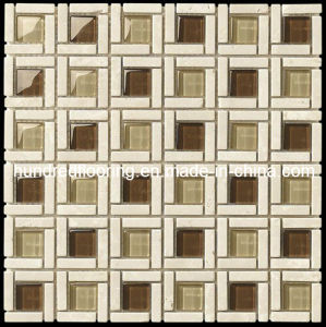 Crystal Glass Mix Stone Mosaic Tile (HGM293) pictures & photos
