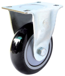 Medium Duty Swivel Black PU Caster pictures & photos