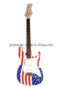 Custom Water Transfer Body Top St Electric Guitar pictures & photos
