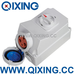 IEC/En 60309 Industrial Socket with Mechanical Interlock Switch (QX5911) pictures & photos