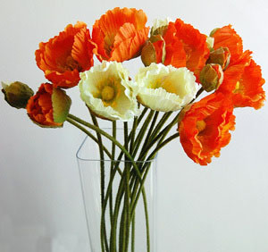 Artificial Single Flower--Poppy