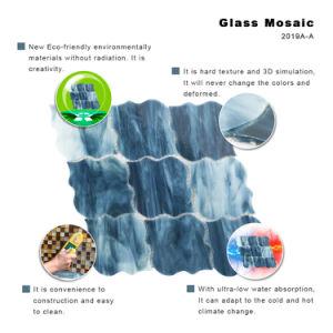 Custom Petterns Black Color Backsplash Glass Mosaic Tile for Walls pictures & photos