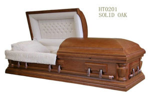 American Style Wooden Casket for Funeral (HT 0201)