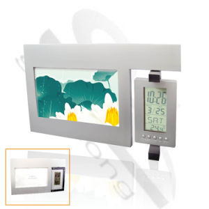 Revolving LCD Clock with Photo Frame (SL-53202)