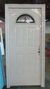 Exterior Steel Door with Glass Designs