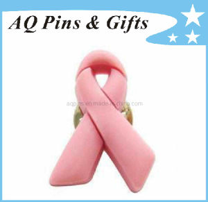 High Quality Soft PVC Pink Ribbon Awareness Pin (Pin-01) pictures & photos