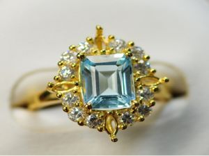 925 Silver Ring with Blue Topaz (LBT0002) pictures & photos