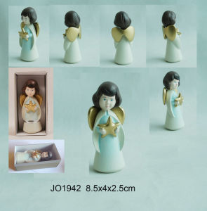 MDF Mould Wooden Carved Hand Painting Angel (JO1942) pictures & photos