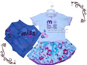 Girl′s 3PCS Set