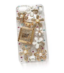Elegant Perfume Bottle Flowers Mobile Phone Shell (MB1271)