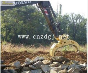 Excavator Hydraulic Rotating Grapple Wooden Excavator Rotating Grab Grapple Stone