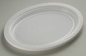 Easylife V2721 (27X21cm) PS Oval Plate White pictures & photos