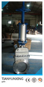 Inside Screw Metal Seat Stainless Steel Flanged Knife Gate Valve pictures & photos