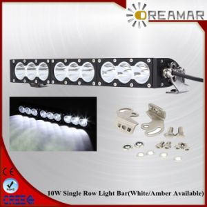 90W 16.6inch 9000lm Single Row with White/Amber Color LED Car Light Bar pictures & photos