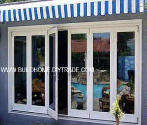 Flat Surfaced Sill Low E Double Glass Aluminum Doors pictures & photos