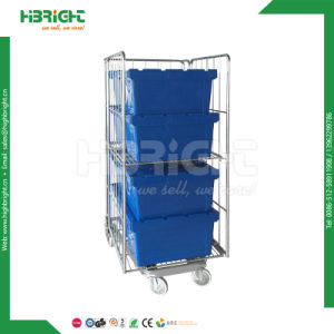 Moving Plastic Storage Crate with Hinged Lid pictures & photos