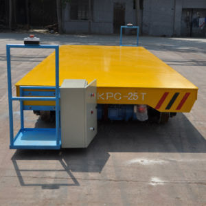 Hydraulic Powered Motorized Transfer Cart in Bay-to-Bay Workshop (KPC-13T) pictures & photos