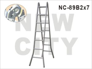 Hotel/Construction Aluminum Muti-Purpose Ladder, 7 Step Ladder with SGS (NC-89B2X7)