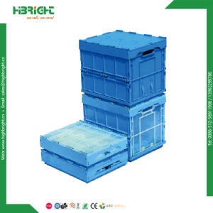 Plastic Folding Box Stackable Moving Container with Hinged Lid pictures & photos