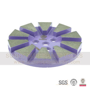 Magic Tape Type of Diamond Grinding Pads for Concrete Floor pictures & photos