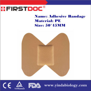 High Quality OEM 50*45mm PE Material Skin Color Butterfly Style Adhesive Bandages pictures & photos