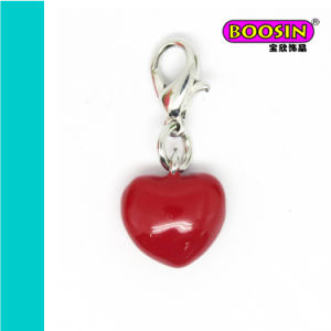 Fashion Alloy Heart Shape Red Enamel Pendant for Jewelry Wholesale pictures & photos