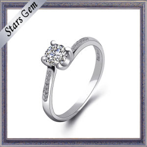 High Quality Cubic Zirconia Silver Ring Jewelry pictures & photos