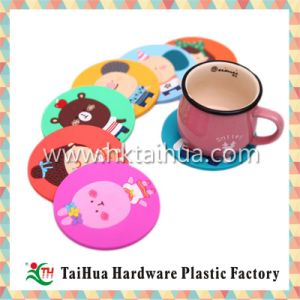 High Quality Custom Deisign PVC Cup Mat with Thc-004 pictures & photos