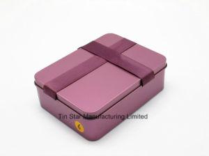Rectangular Gift Tin Box with Ribbon for Wedding/Candy/Chocolate Box