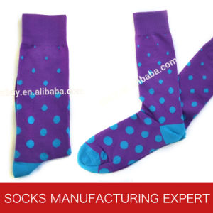 Mens Colorful Cotton Dress Socks (UBM-026) pictures & photos
