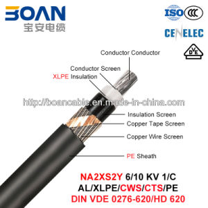 Na2xs2y, Power Cable, 6/10 Kv, 1/C, Al/XLPE/Cws/PE (HD 620/VDE 0276-620) pictures & photos