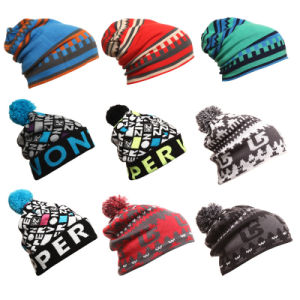 Fashion Jacquard Acrylic Knitted Winter Warm Ski Sports Hats (YKY3137-1) pictures & photos