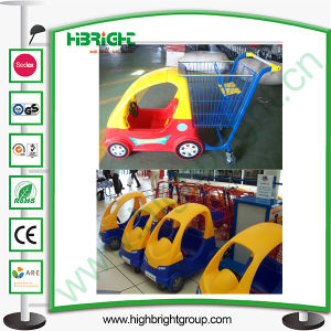 Supermarket Kids Shopping Cart with Plastic Toy Car pictures & photos