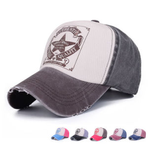 Fashion Printed Well Worn Cotton Twill Baseball Leisure Cap (YKY3040) pictures & photos