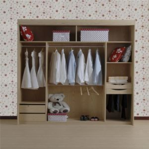 Red Modern Plywood Wardrobe pictures & photos