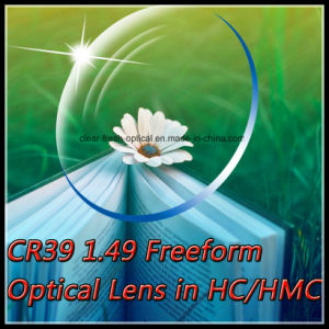 Cr39 1.49 Freeform Optical Lens in Hc/Hmc
