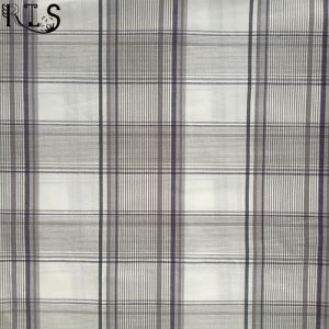100% Cotton Poplin Woven Yarn Dyed Fabric for Garments Shirt Dress Rls32-1po