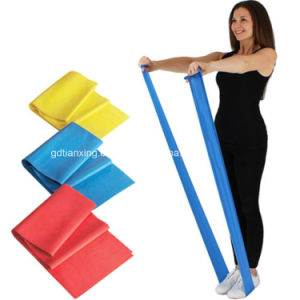 Pilates Exercise Bands, Latex Resistance Belt, Yoga Stretch Band, Theraband pictures & photos