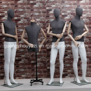 Fabric Wrapped Male Mannequin with Wooden Arm pictures & photos