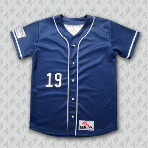 2015 Latest Designs Custom Wholesale Button Down Blank Baseball Jersey pictures & photos