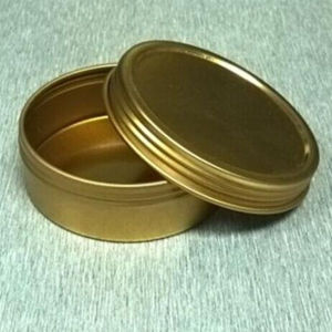 Small Round Screw Lid Cosmetic Tin