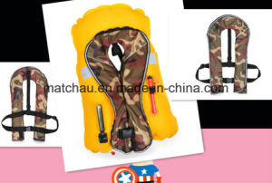 Military Use Single Air Chamber Inflatable Life Jacket pictures & photos