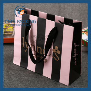 Offset Printing Paper Hand Bag with Silk Ribbon pictures & photos