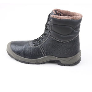 Winter Leather Safety Boots with Fur Lining (SN1558) pictures & photos
