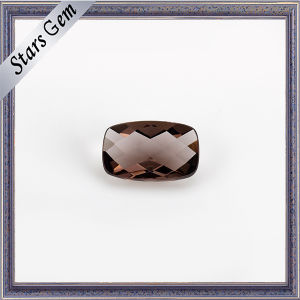 Coffee Color Cushion Checker Cut Transparent Crystal Glass pictures & photos