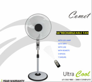 Unitedstar Newest16′′ DC Stand Fan (USSF-450) with Remote/Light/MP3 pictures & photos