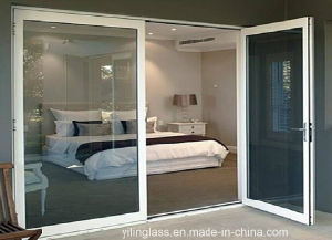 Large Tempered Glass Aluminium Casement Door pictures & photos