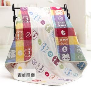 Muslin New Frog Design Baby Blanket, Baby Towel pictures & photos