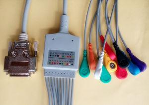 Siemens 15pin Aha Snap&Clip EKG/ECG Cable pictures & photos