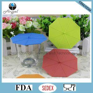 Popular Umbrella Silicone Tea Cup Lid Silicone Cup Cover SL10